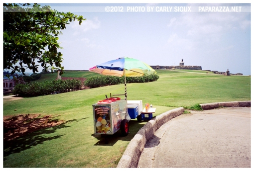 Lonely Ice Cream Stand @ Castillo San Felipe del Morro, PR, Jun12