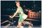 Ellena on bike, Financial Dist,July12