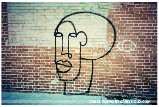 Face and eye Mural, Bushwick, sept2012