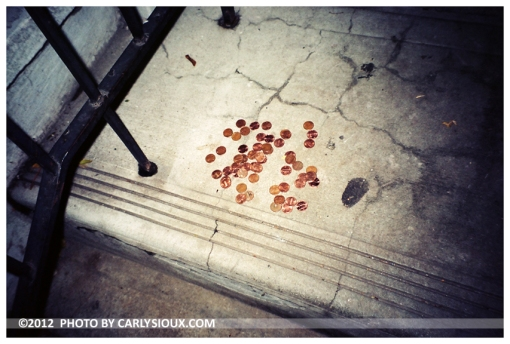 Pennies on a Porch, Brooklyn, Oct12