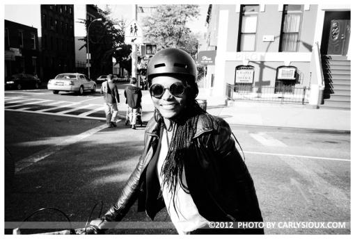 Ety biking, Clinton Hill, Oct2012