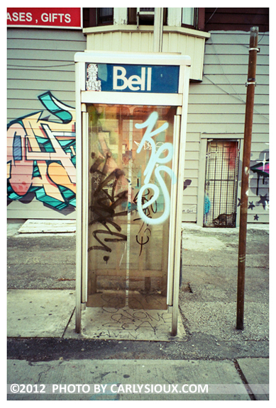 Bell, Grafitti Phone Booth, Toronto, Nov12