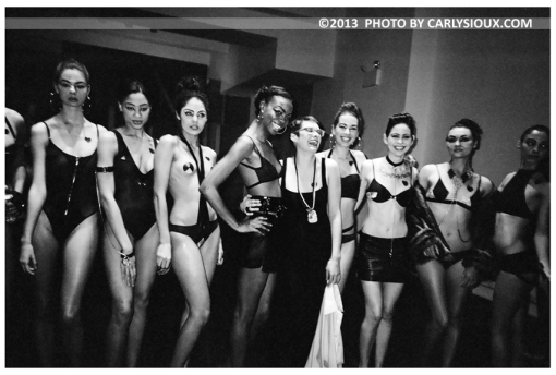 Dani w. Models 2 Post Runway, Met Pavallion, Feb13