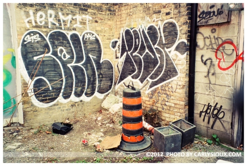 Orange Cone, Black Grafitti, Toronto, Nov12