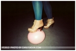 Elizabeth, Gold Boot, Pink Balloon,Mar13