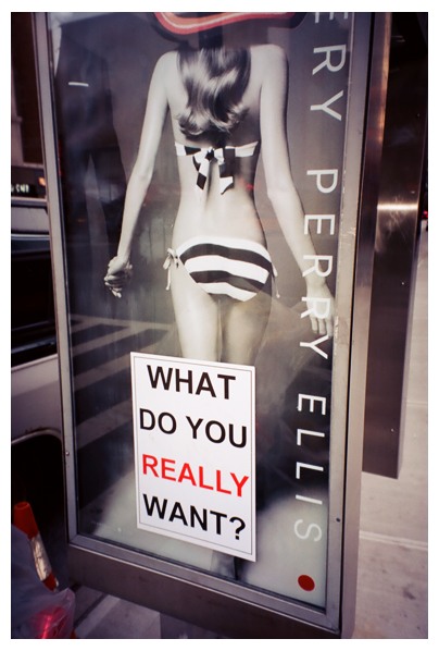 What do you really want, Ad, Street art, Chelsea, mar13