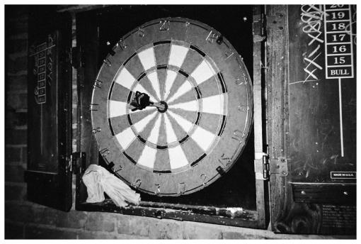 Bullseye, Bull, Luck, Skill, Winebar, Lebanon, Dec12