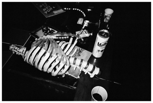Skeleton, Coffee Table @ Gary Loft Party, Bedstuy Apr13