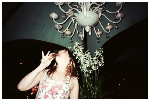 Brigid, champagne, chandelier, San Juan Hotel, May13