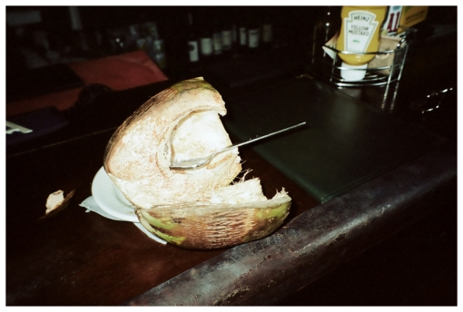 spooned coconut, Old San Juan, May13