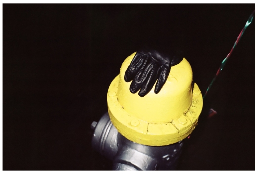 Black Glove Yellow Hydrant, Kingston, Dec 2012