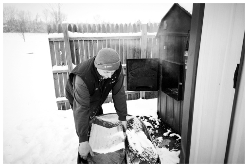 Dad 3, Farm, Lumberjack, Snow, Firewood, Dec12