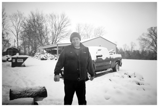 Dad 5, Farm, Lumberjack, Snow, Firewood, Dec12