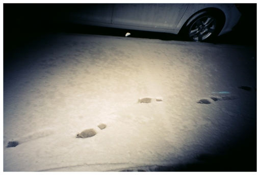 Snow, Footsteps,Voyeur, Clinton hill, Mar13