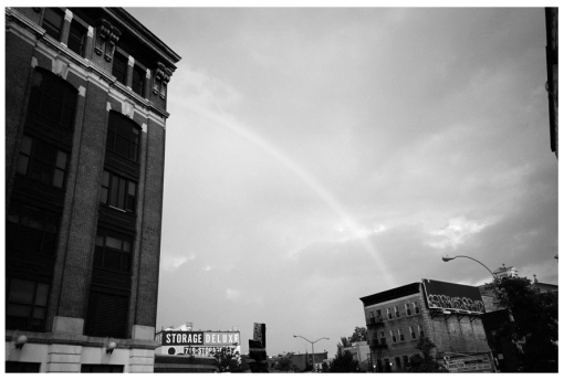 Rainbow in Black and White, Clinton Hill, July13