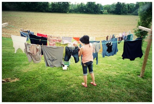 Fresh Laundry, Mom, Farm, Jun13