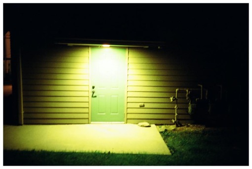 Green door, Yellow light, Waynesville, Jun13