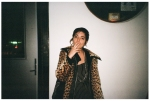 Girl in Leopard Print smoking@ Dorris, BrooklynDec13