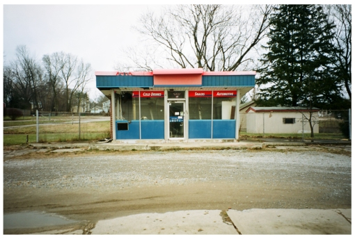 Empty Gas Station, Lebanon Ohio, Dec13