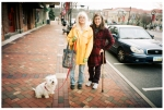 Sarah and Cheryl and Mazie. Downtown,Dec13