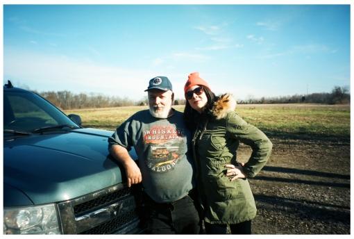 Dad, Carly, Farm House, Truck, Ohio Dec13