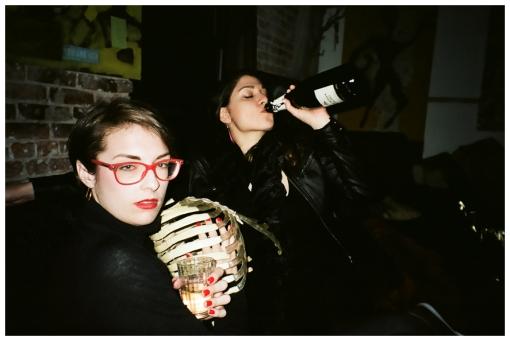 Dani, Emily, Gold Ribs, Prosecco, Bedstuy, Apr14