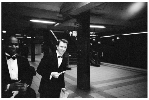 tuxedos, Fried Chicken, NYC Subway, Apr14