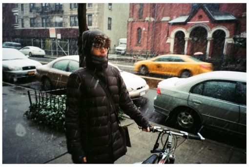 Alfredo, Bike, Snow, Dec13