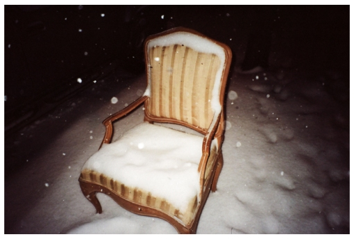 Chair, Snow, Cold, Clinton Hill, Polar Vortex, Feb14