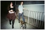 Jolie and Adam Walking the Dog 2, Williamsburg,May14