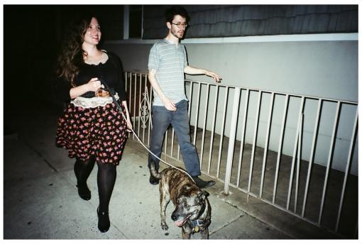 Jolie and Adam Walking the Dog 2, Williamsburg, May14
