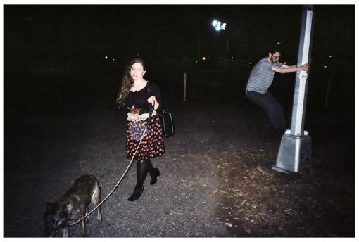 Jolie and Adam Walking the Dog 3, Williamsburg, May14
