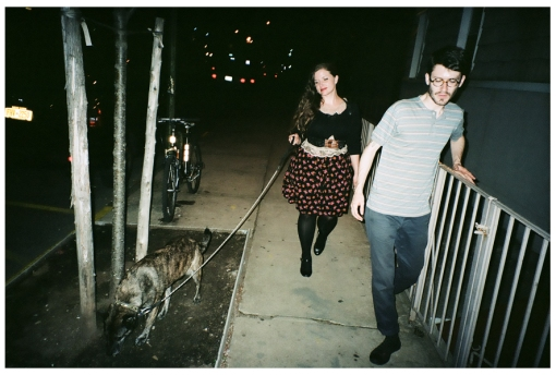 Jolie and Adam Walking the Dog, Williamsburg, May14