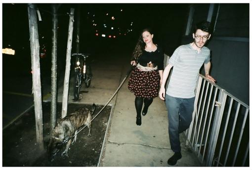 Jolie and Adam Walking the Dog, Williamsburg, May14