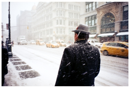 Man, Fedora, Snow, Polar Artic, Chelsea, Feb14