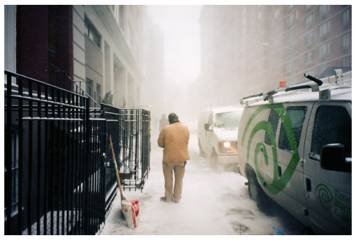 Walk Home, Polar Artic, White Out, Chelsea, Feb14