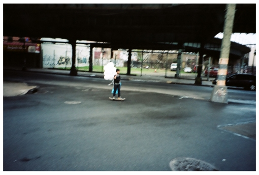 Boy, Balloons, Skateboard, Bedstuy, Apr14