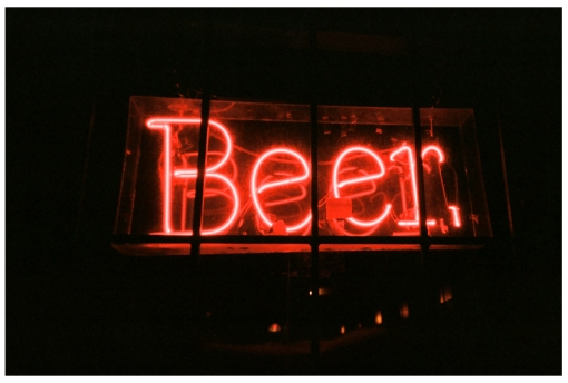 Beer, Red, Neon, night, light, Nov13