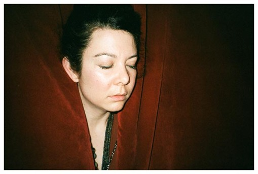 Carly, Head, velvet Curtain, Aug14